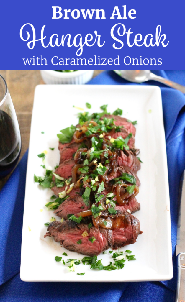 Marinated Brown Ale Hanger Steak with Caramelized Onions | www.littlechefbigappetite.com