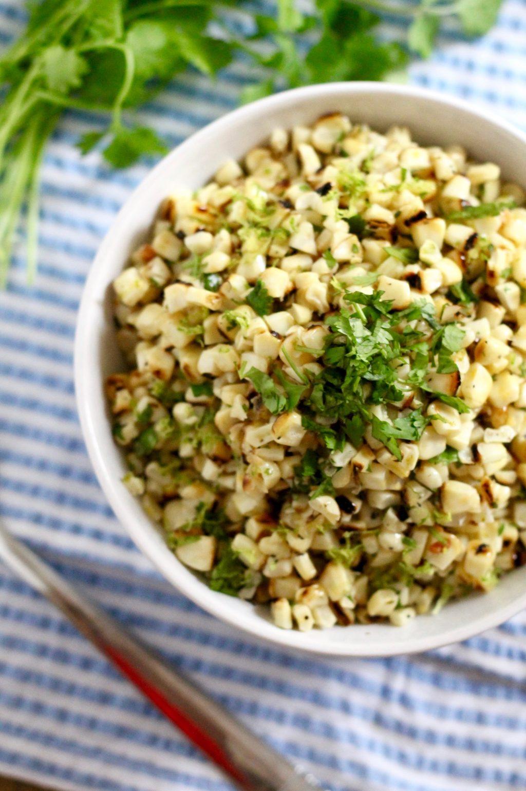 Healthy Lime Corn Salad Recipe   www.littlechefbigappetite.com
