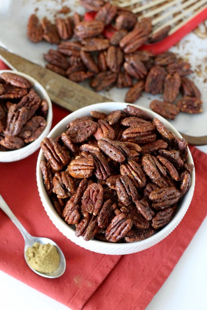 Holiday Spiced Pecans Recipe | www.littlechefbigappetite.com