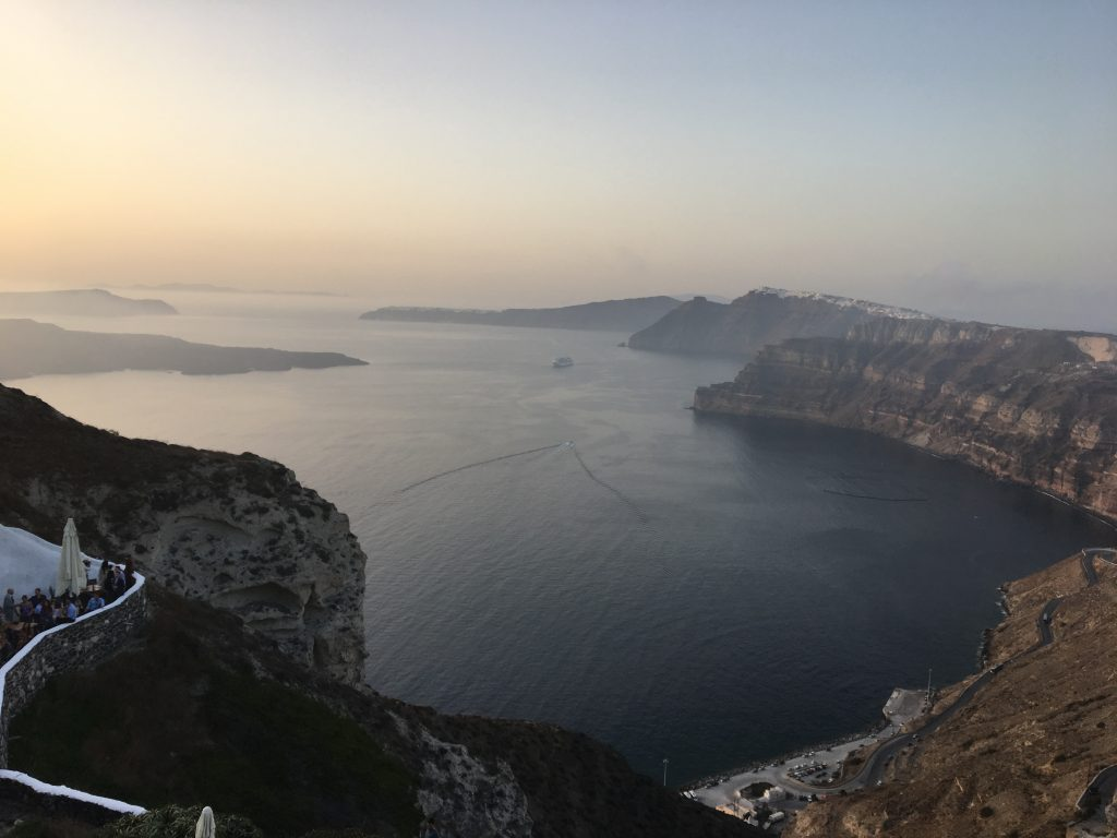 Our Honeymoon in Santorini, Greece: Details and Tips about where to stay, what to do, where to eat, and where to enjoy fantastic Greek wine! // www.littlechefbigappetite.com // Honeymoon in Greece, Greek Honeymoon, Greek Vacation, Greece Travel Tips, Santorini Travel, Santorini Restaurants, Santorini Dining, Greek Wine