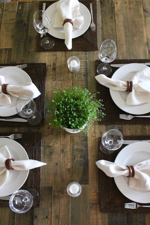 West Elm Emmerson Dining Table Set with Placemats