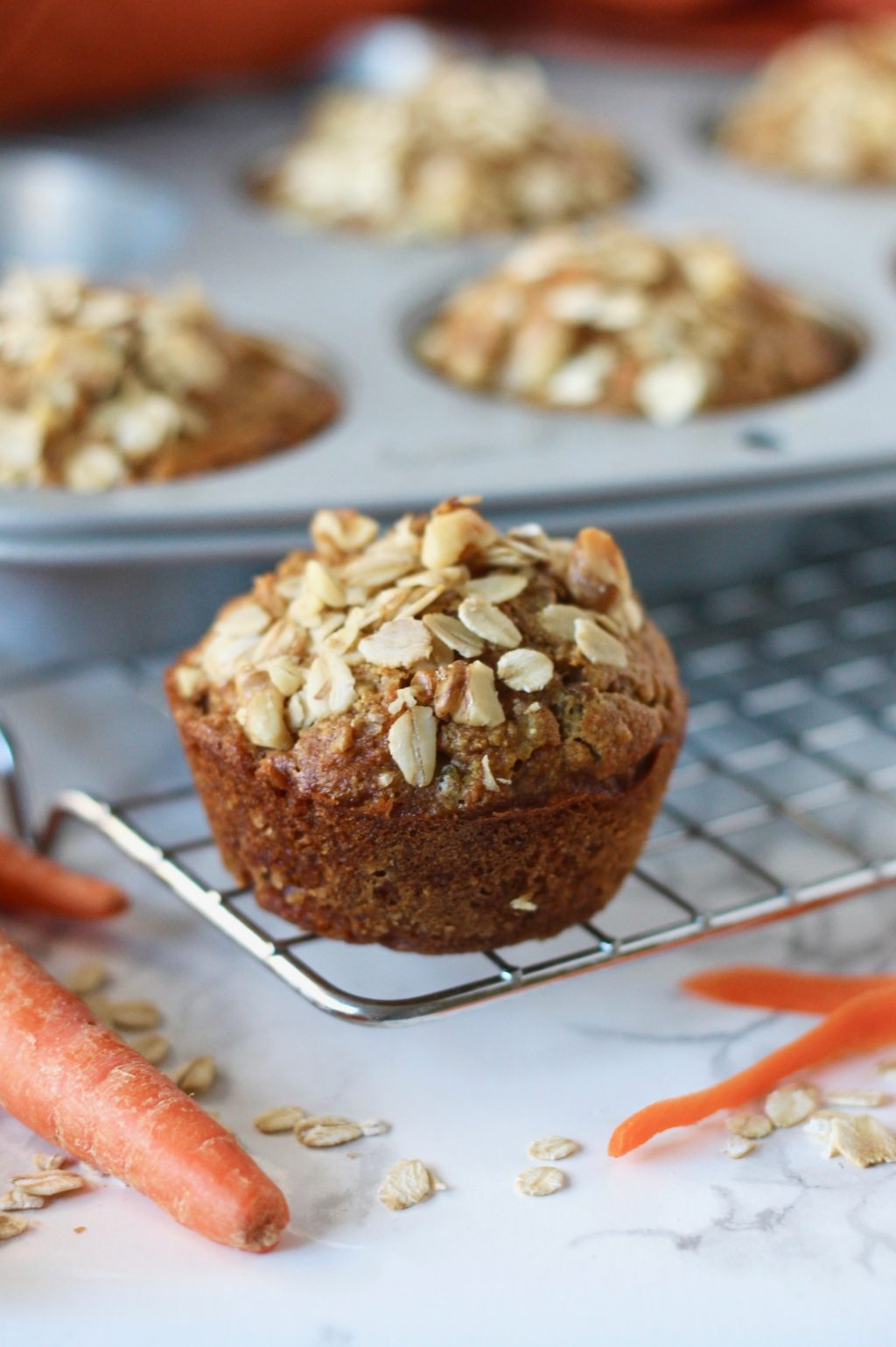 Whole Wheat Carrot Muffins with Walnuts | www.littlechefbigappetite.com 5
