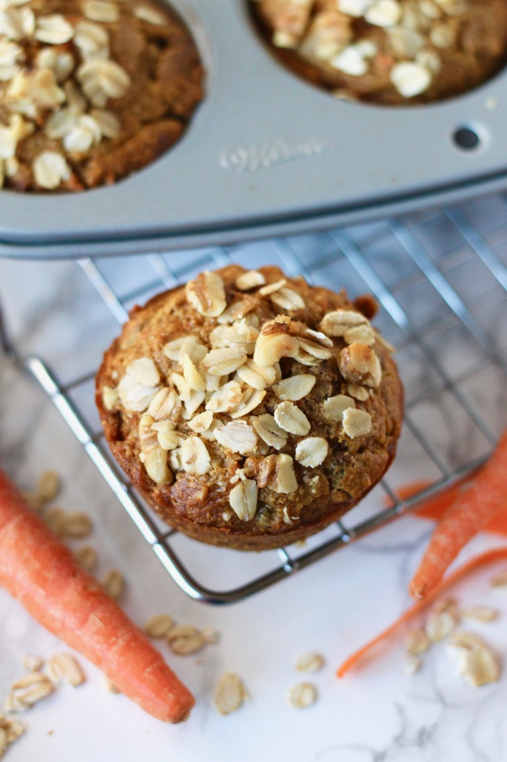 Whole Wheat Carrot Muffins with Walnuts | www.littlechefbigappetite.com 4