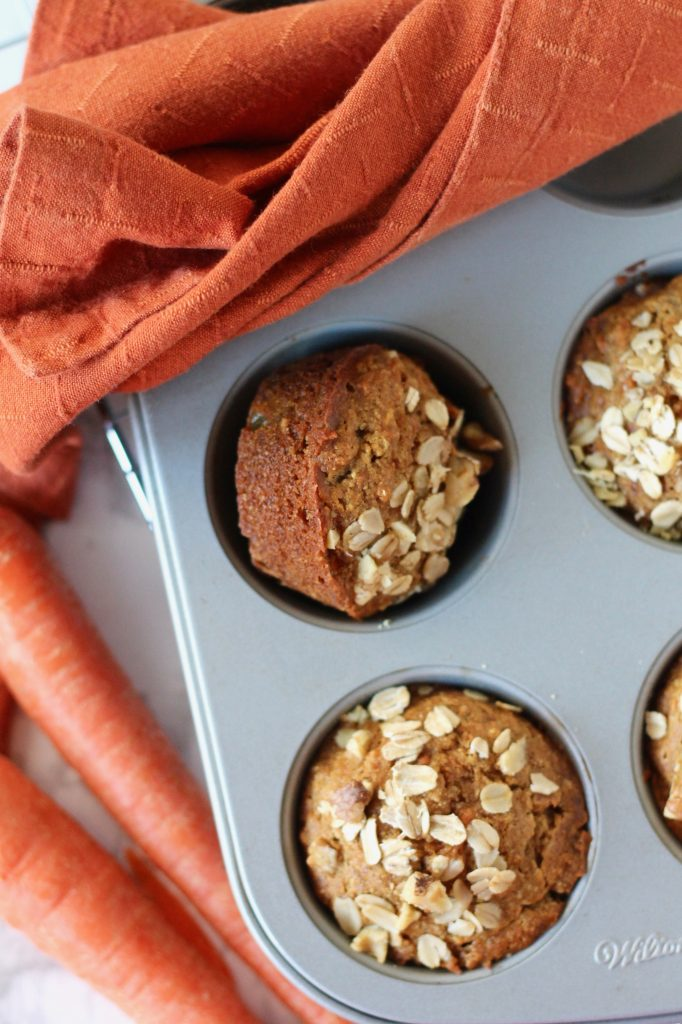 Whole Wheat Carrot Muffins with Walnuts | www.littlechefbigappetite.com 2