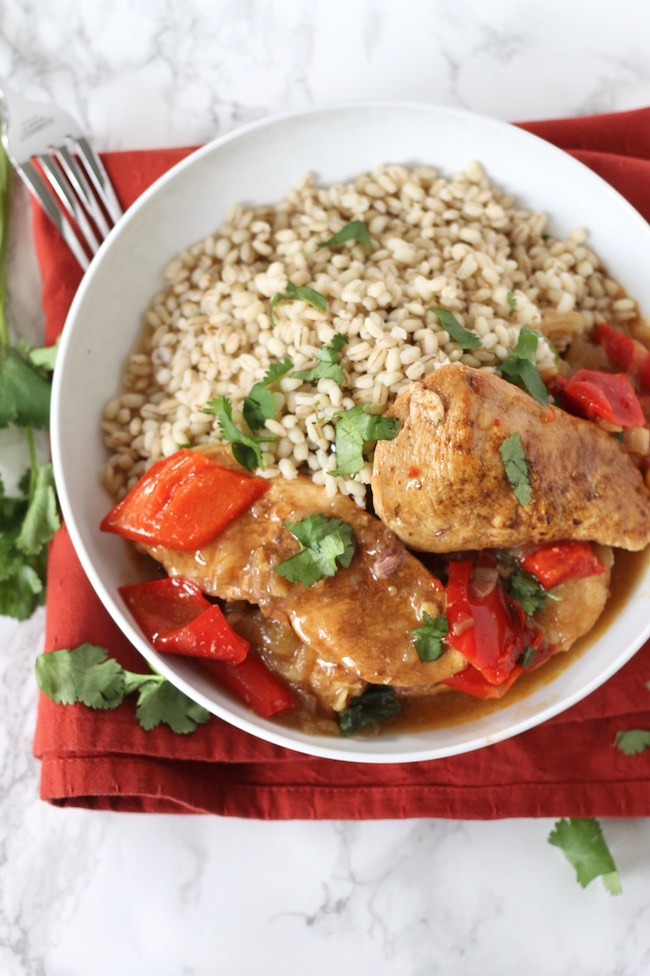 Slow Cooker Chicken with Dates and Golden Raisins Recipe ll www.littlechefbigappetite.com