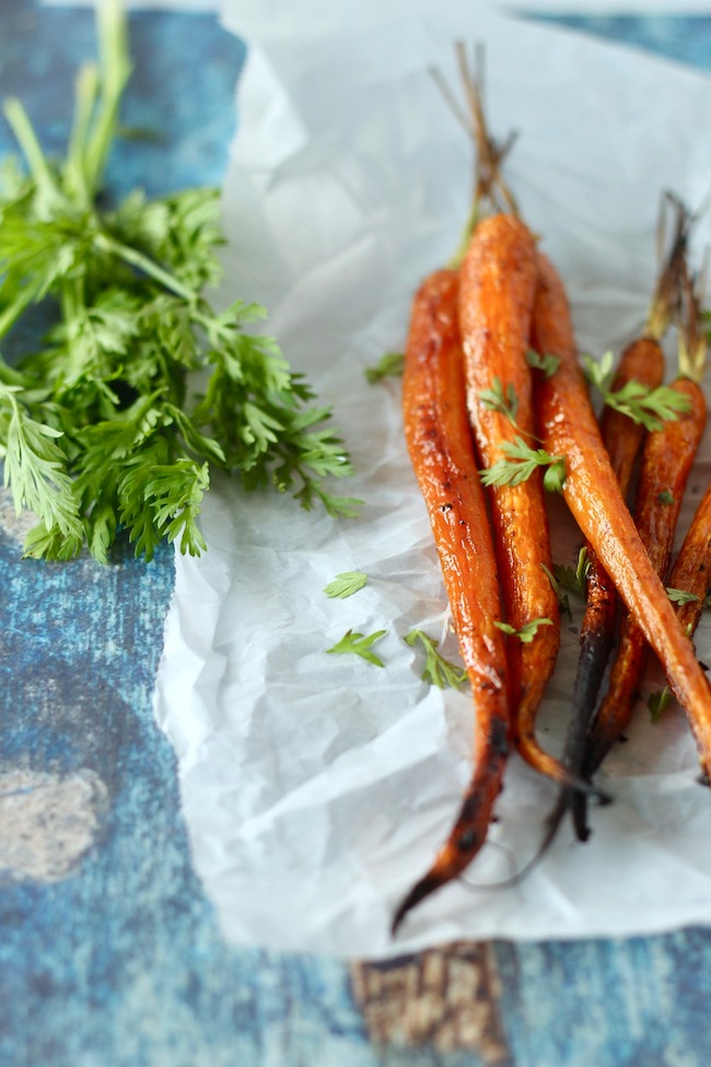Caramelized Roasted Carrots Recipe | www.littlechefbigappetite.com