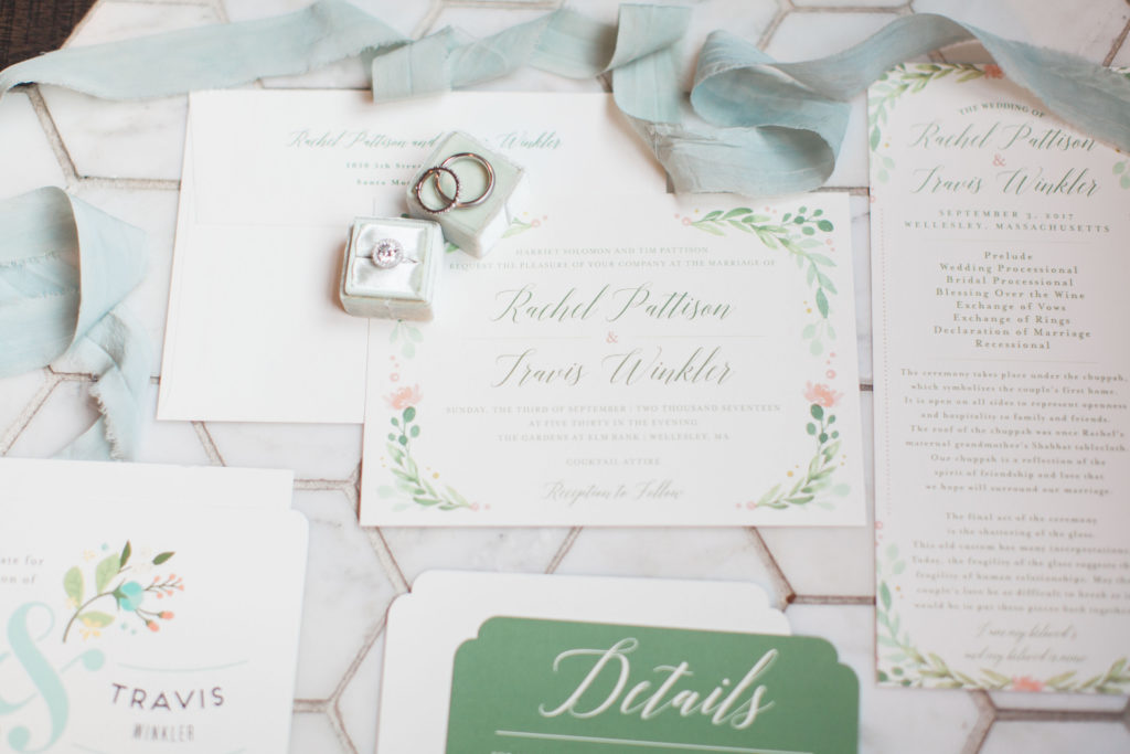 Floral Wedding Invitation Suite | www.littlechefbigappetite.com