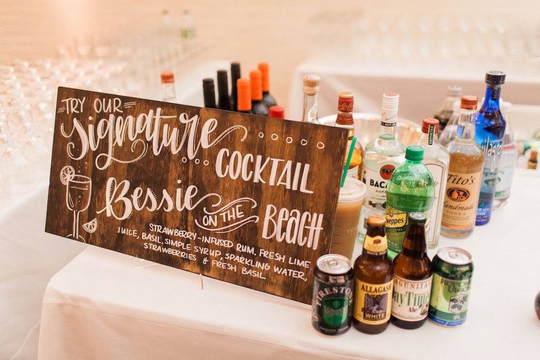 Signature Cocktail Sign | www.littlechefbigappetite.com