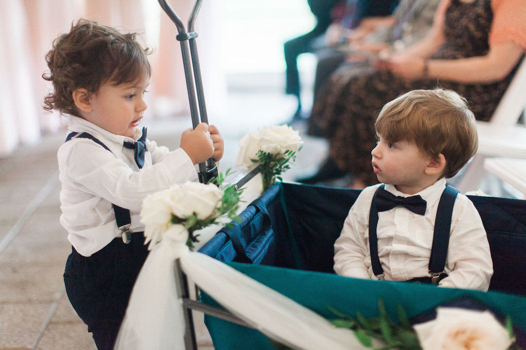 Toddler Ring Bearers in Wagon | www.littlechefbigappetite.com 3