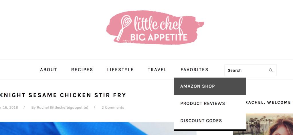 Amazon Shop Page on Little Chef Big Appetite | www.littlechefbigappetite.com
