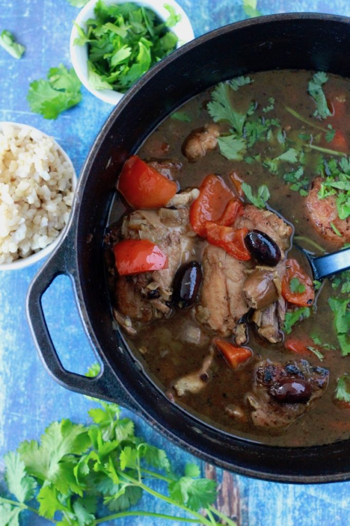 Moroccan Chicken Stew with Dates and Olives | www.littlechefbigappetite.com 1