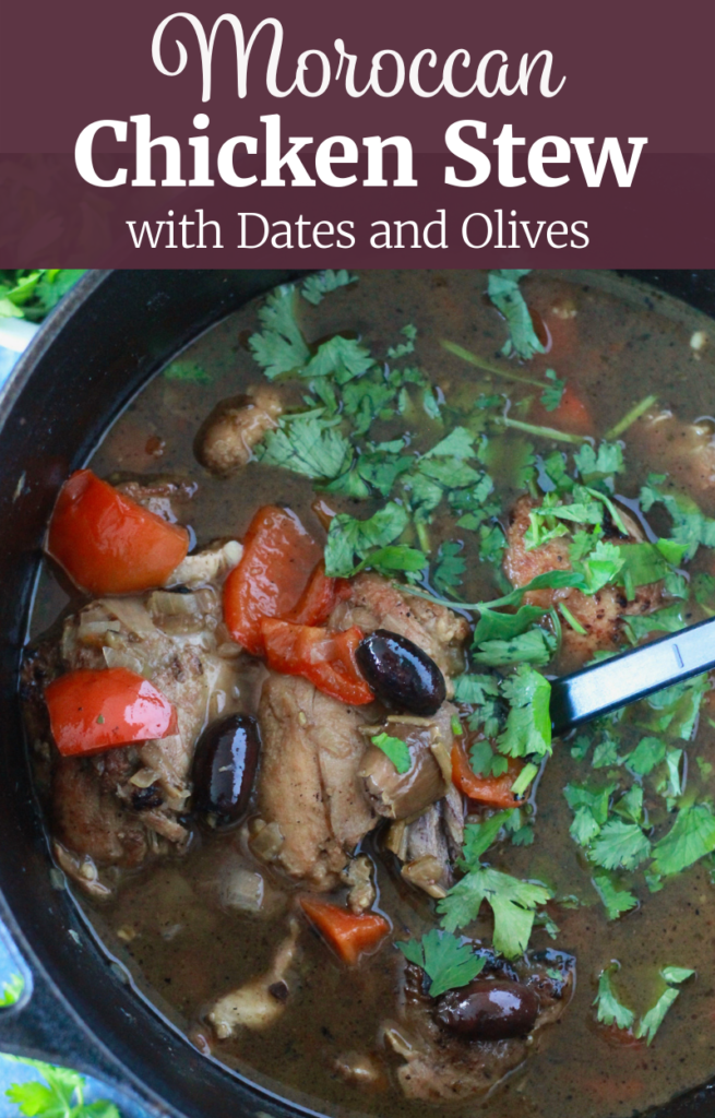 Moroccan Chicken Stew with Dates and Olives | www.littlechefbigappetite.com Pin 1