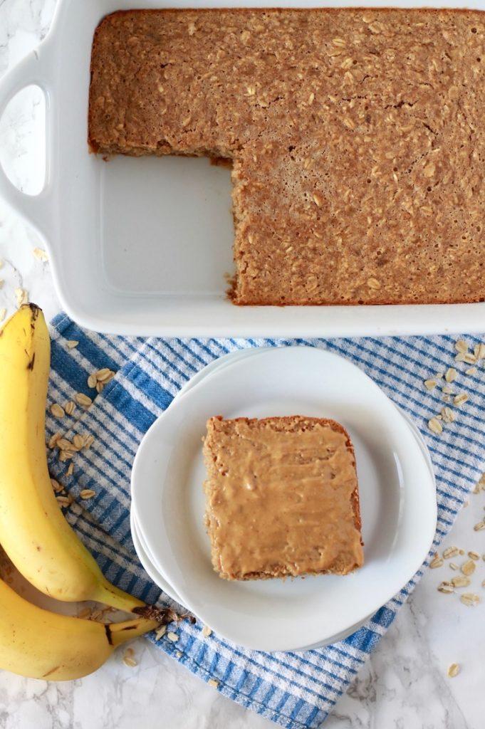 Banana Peanut Butter Baked Oatmeal | littlechefbigappetite.com 6