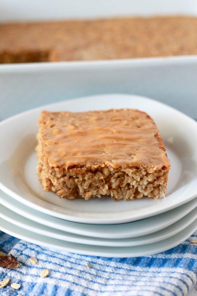 Banana Peanut Butter Baked Oatmeal | littlechefbigappetite.com 3