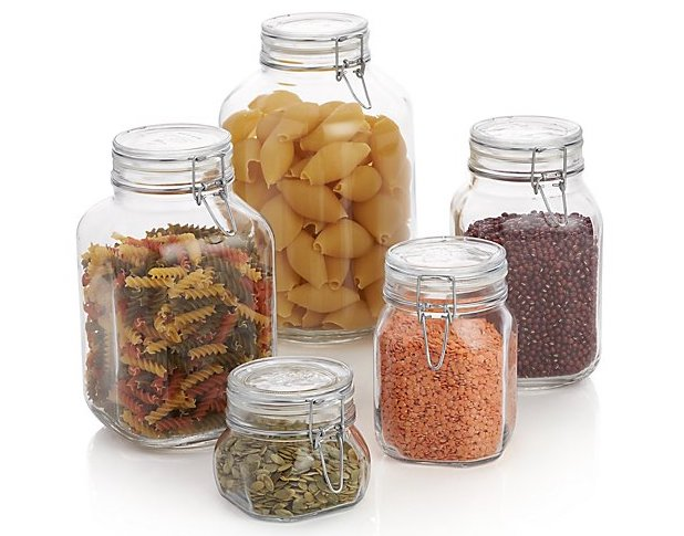 Air Tight Glass Food Storage Jars