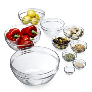 Arc France Glass Bowls with Lids