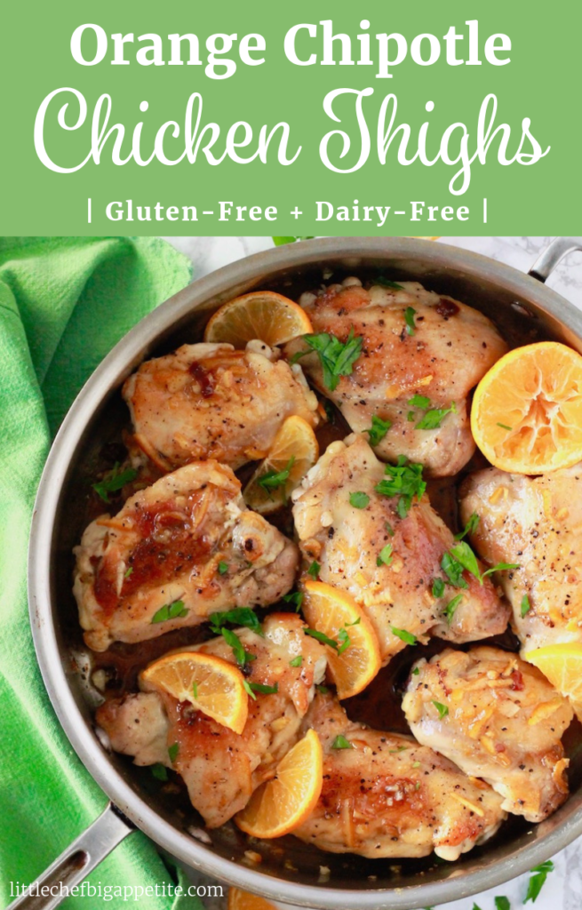 Orange Chipotle Chicken Thighs | littlechefbigappetite Pinterest Pin